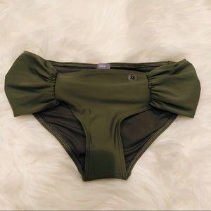 Aerie green swim bottoms size XS